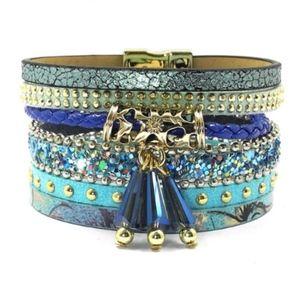 """Mermaid's Tale"" Magnetic Wrap Charm Bracelet"